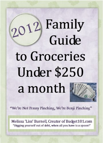Bargain eBook Hunter: We Hunt for Free & Bargain eBooks So You Don't Have To! -- A HotZippy Website: Today's Readers for Tomorrow's Bestsellers! © -- Bargain eBook Hunter proudly presents: 2012 Family Guide to Groceries under $250 a Month by Melissa 'Liss' Burnell!